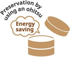 preservation by using an ohitsu Energysaving