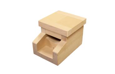 湯口(吐水口)角型No.3 椹(さわら) 幅15.0cm x 奥行20.0cm x 長さ14.0cm