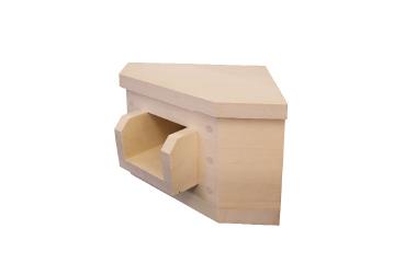 湯口(吐水口)コーナー 椹(さわら) 幅25.0cm x 奥行25.0cm x 長さ20.0cm