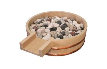 湯口(吐水口)丸型No.1椹(さわら) φ30.0cm x 高さ9.0cm ※玉石は付属されていません。