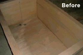 木風呂の修理例