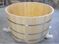 樽風呂の完成です