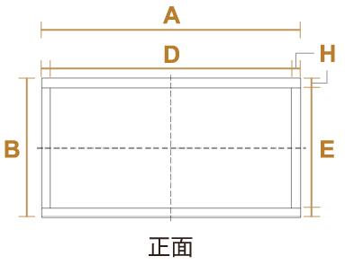 箱型のサイズ・設計図