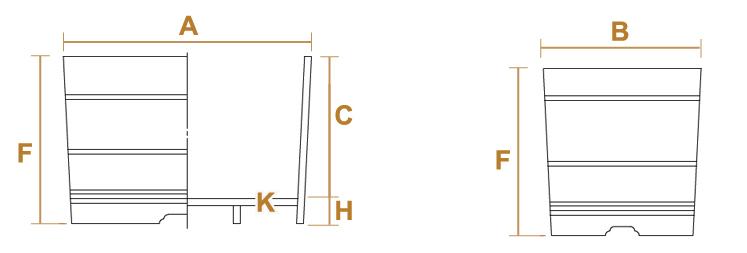角丸型のサイズ・設計図