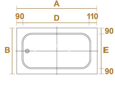 角丸デラックス型の サイズ・設計図