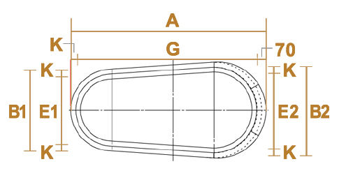 和モダン型のサイズ・設計図