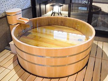樽型木風呂