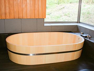 小判型木風呂