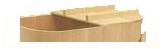 桟付き型 浴槽の横幅2~3分割の手持ち桟付き