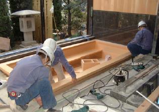 浴室設計から木風呂製作、工事まで承っております