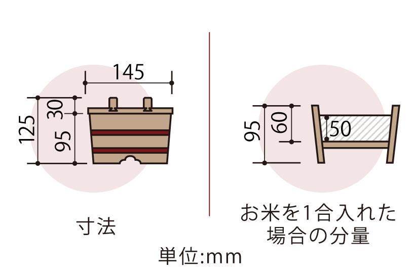 木曽産の椹(さわら)でできたおひつです。最も小さい1合サイズ。約1人分。