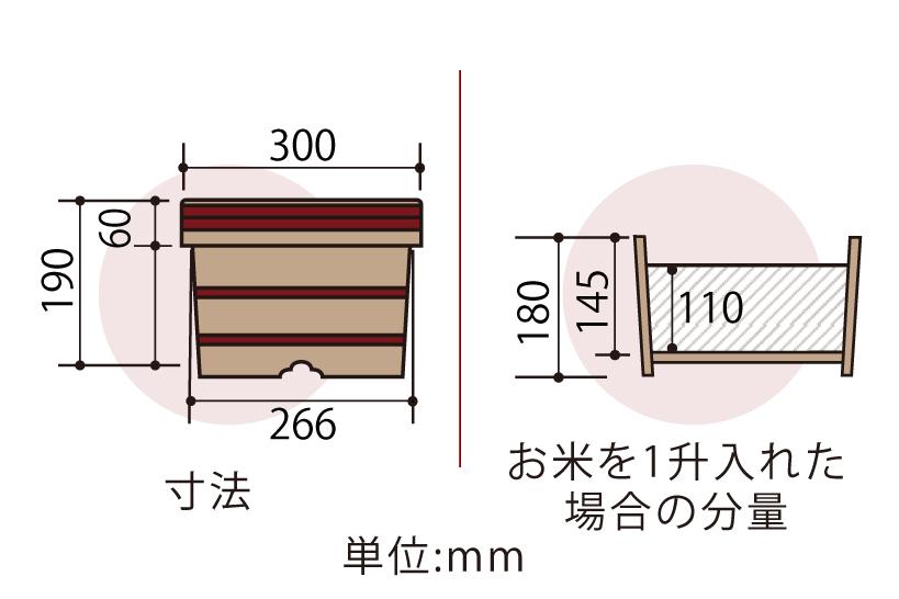 木曽産の椹(さわら)でできた江戸おひつ(江戸びつ)27cm(9寸)です。業務用約1升サイズ。約6人~13人分。