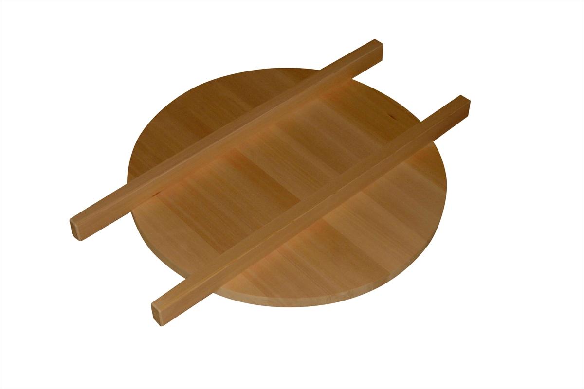 木曽椹(さわら)でつくった蕎麦釜のふた。職人がていねいに仕上げています。しっかりとしたつくりで丈夫です。