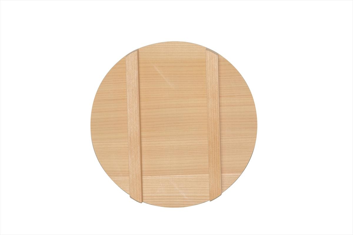 木曽さわらの寿司桶(飯切・飯台)の蓋24cm。寿司桶24cm(8寸)用です。