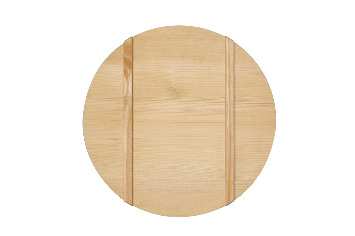 木曽さわらの寿司桶(飯切・飯台)の蓋39cm。寿司桶39cm(1尺3寸)用です。