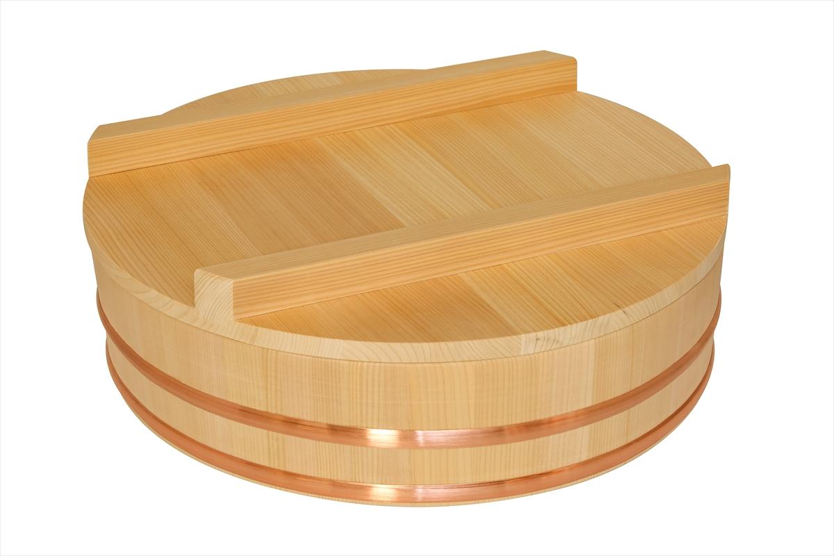 木曽さわらの寿司桶(飯切・飯台)の蓋45cm。寿司桶45cm(1尺5寸)用です。