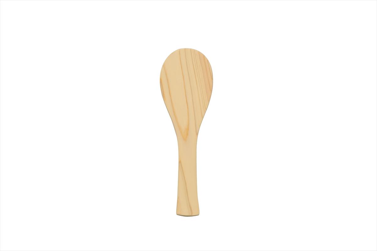 ご飯を盛ったり、混ぜたり。定番の檜のしゃもじ!長さ19cmです。