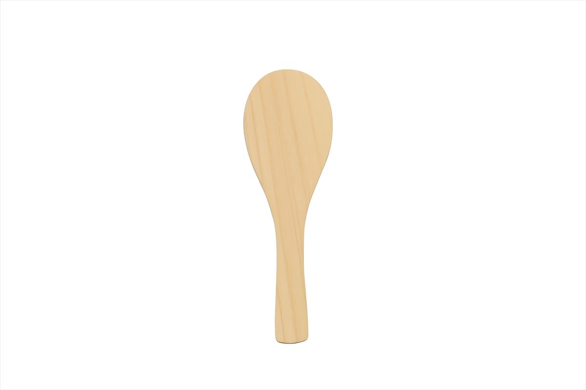 ご飯を盛ったり、混ぜたり。定番の檜のしゃもじ!長さ21.5cmです。
