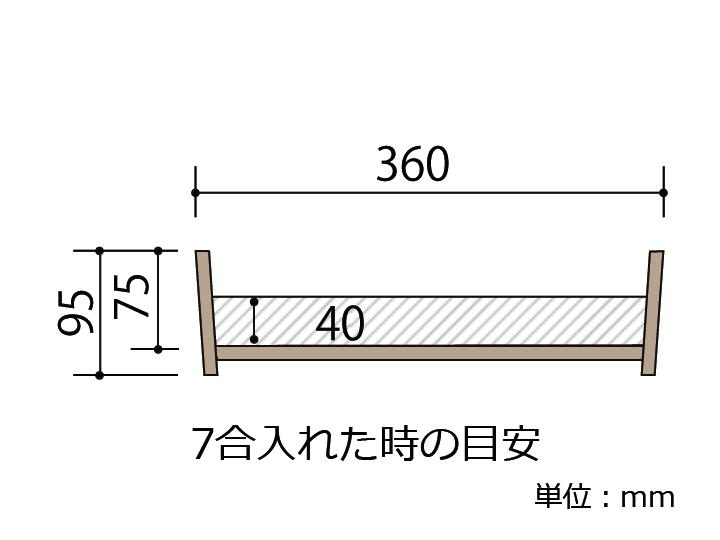 耐久性のある、椹(さわら)の寿司桶です。9~10人用です。