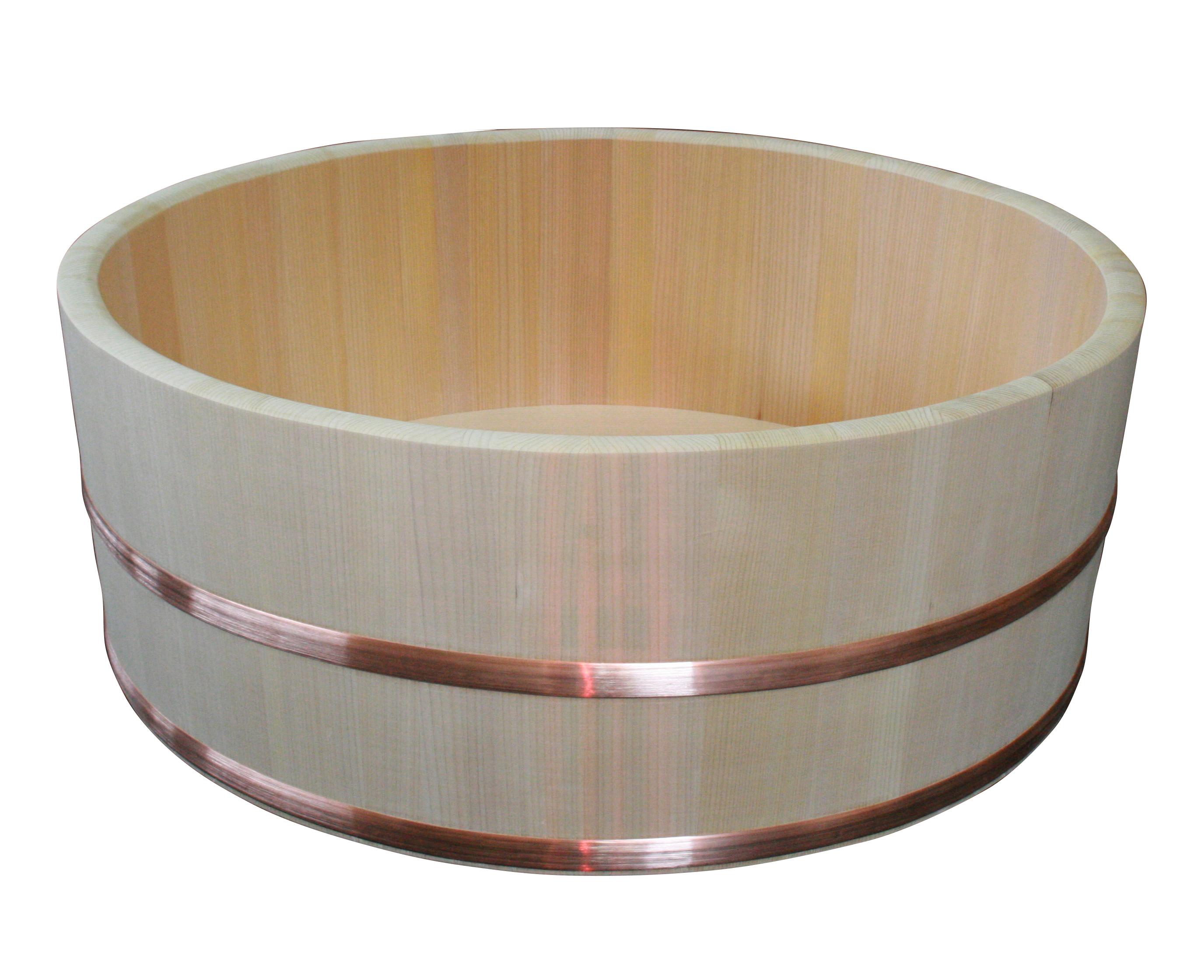 <受注生産品返品不可>洗濯用の桶として、昔はどの家庭にもあった「たらい」。現在は赤ちゃん用のベビーバスや、足湯桶として現役です。木厚もしっかり、保温性も抜群!外径66cm。