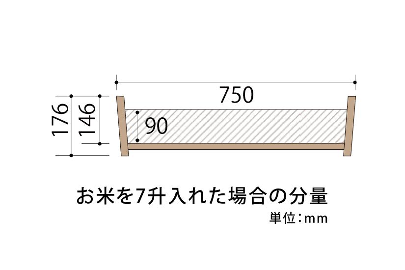 木曽さわらの寿司桶(飯切・飯台)75cm (2尺5寸)。業務用サイズです。タガは銅撚りです。
