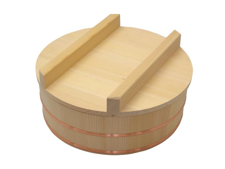 木曽さわらの寿司桶(飯切/飯台)24cm (8寸)。蓋付きセットです。1人~2人用です。