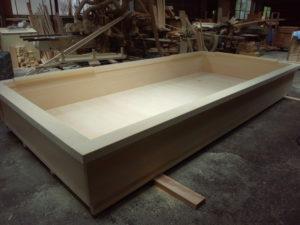 米ひばの大型木風呂