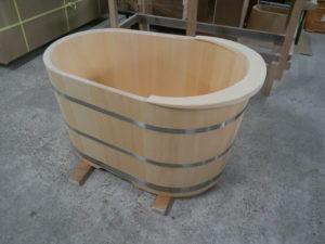 和モダン木風呂