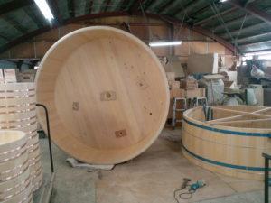 檜の樽風呂