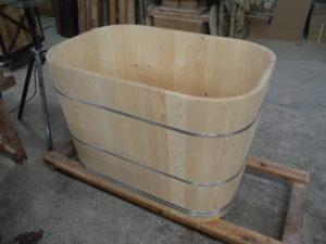 高野槙の角丸風呂