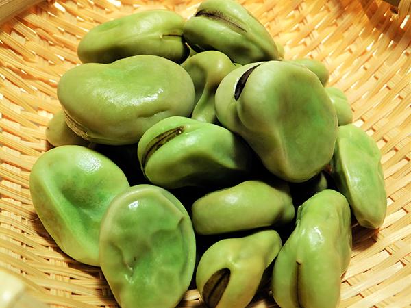 3.レシピ、その2「そら豆とささみのおひつごはん」
